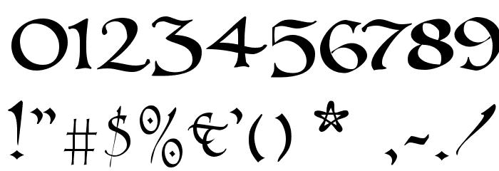 UnZialish Font OTHER CHARS