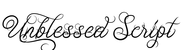 Unblessed Script  Free Fonts Download