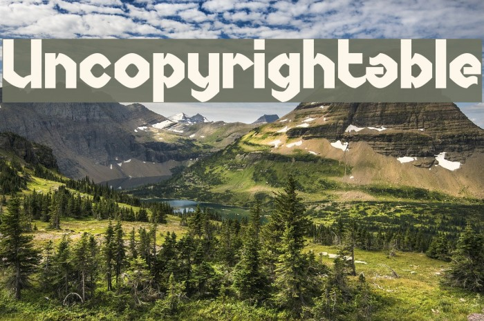 Uncopyrightable Шрифта examples