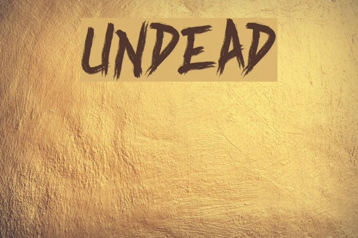 Undead फ़ॉन्ट examples