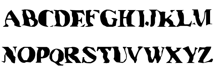 Under water Font UPPERCASE