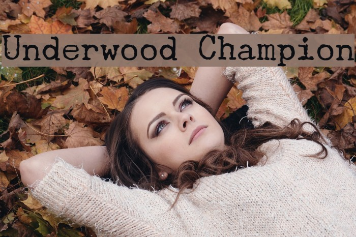 Underwood Champion Font examples