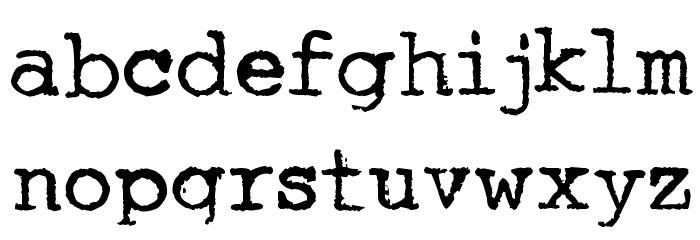 Underwood Quiet Tab Font LOWERCASE