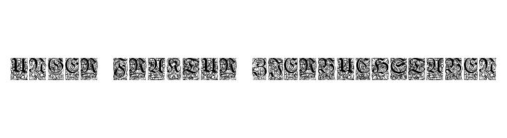 Unger-Fraktur Zierbuchstaben  Frei Schriftart Herunterladen