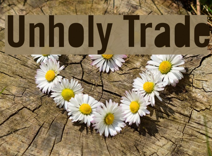 Unholy Trade Font examples