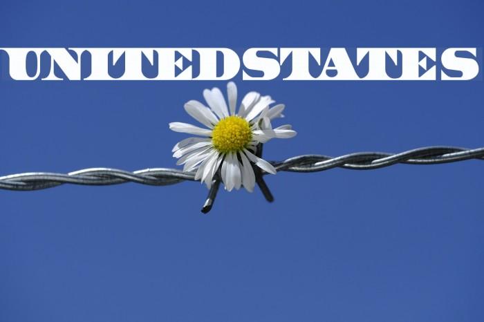 UnitedStates Шрифта examples