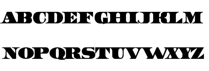 UnitedStates Шрифта строчной