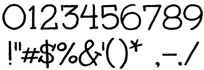 Unkempt Font OTHER CHARS