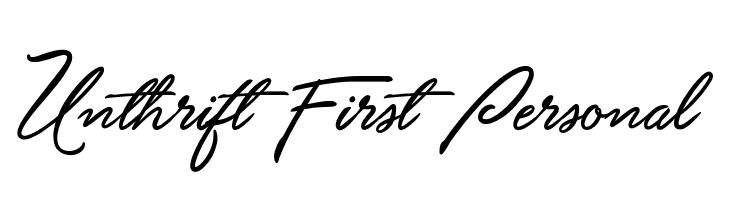 Unthrift First Personal  baixar fontes gratis