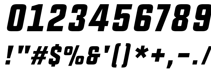 UPBOLTERS Italic Font OTHER CHARS