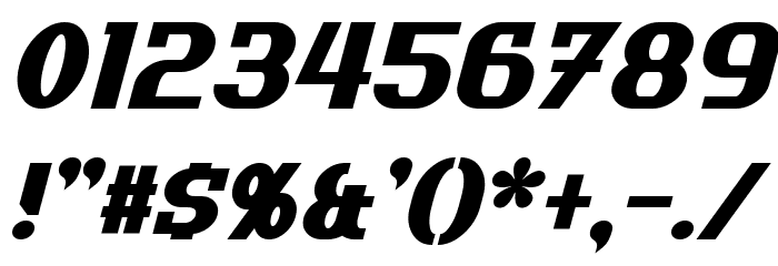 Uptown Italic Font OTHER CHARS