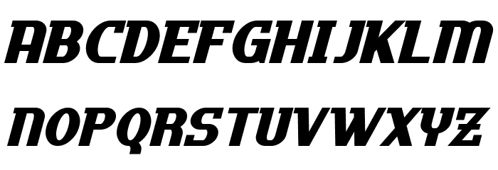 Uptown Italic Font UPPERCASE