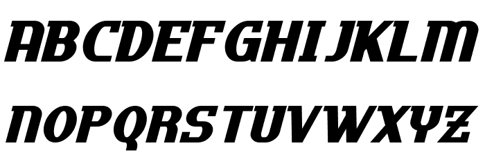 Uptown Italic フォント 小文字