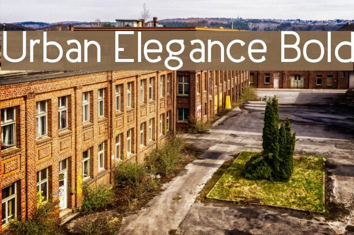 Urban Elegance Bold Fonte examples