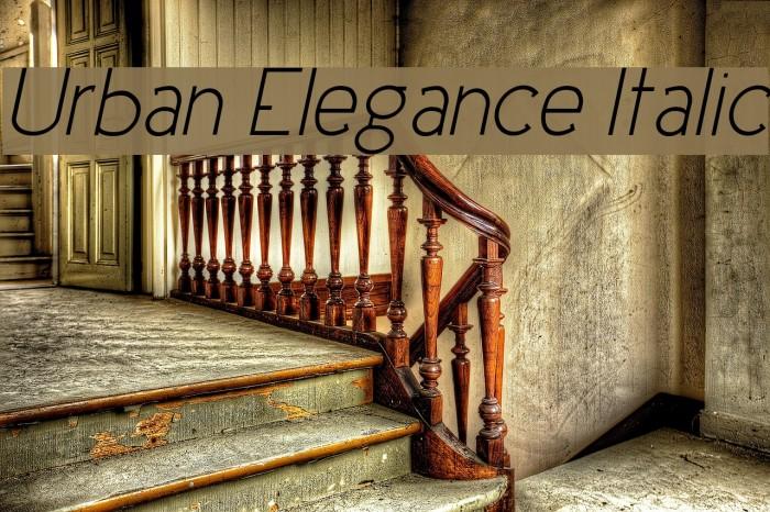 Urban Elegance Italic Fonte examples