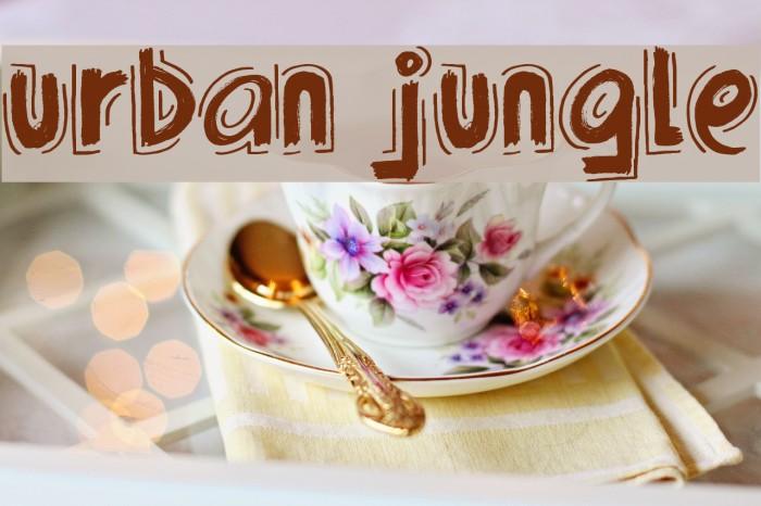 Urban Jungle Font examples