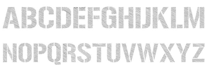 Urban Sketch Font UPPERCASE