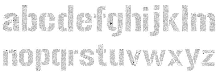 Urban Sketch Font LOWERCASE