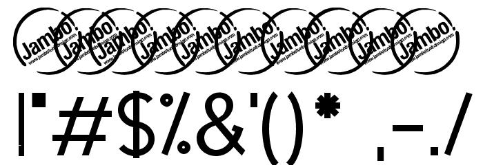 UrbanElegance-Bold Шрифта ДРУГИЕ символов