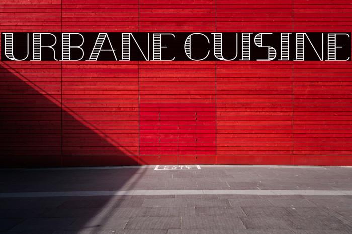 Urbane Cuisine Font examples