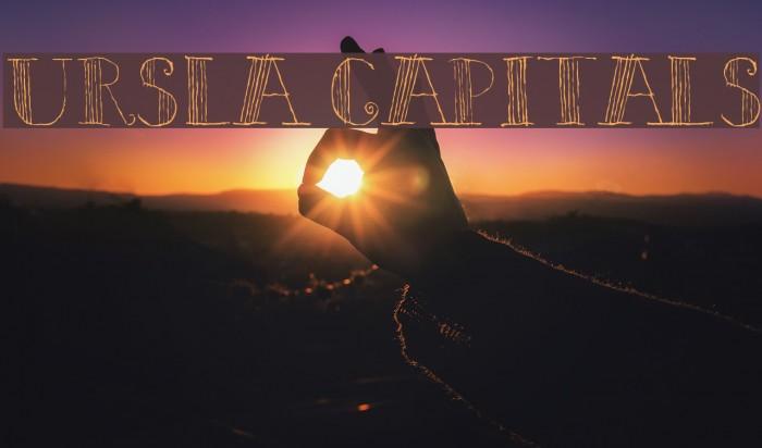 Ursula Capitals Font examples