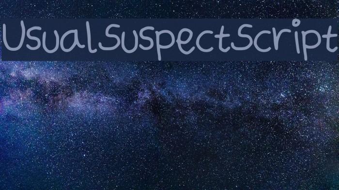 UsualSuspectScript Font examples