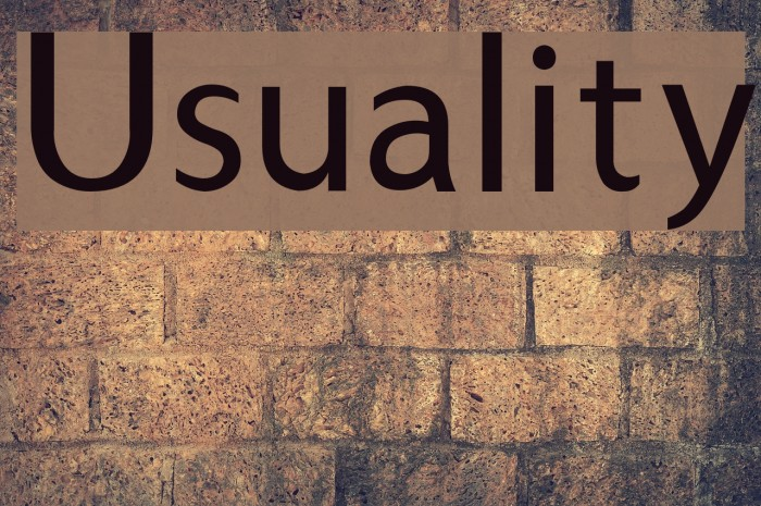 Usuality Font examples