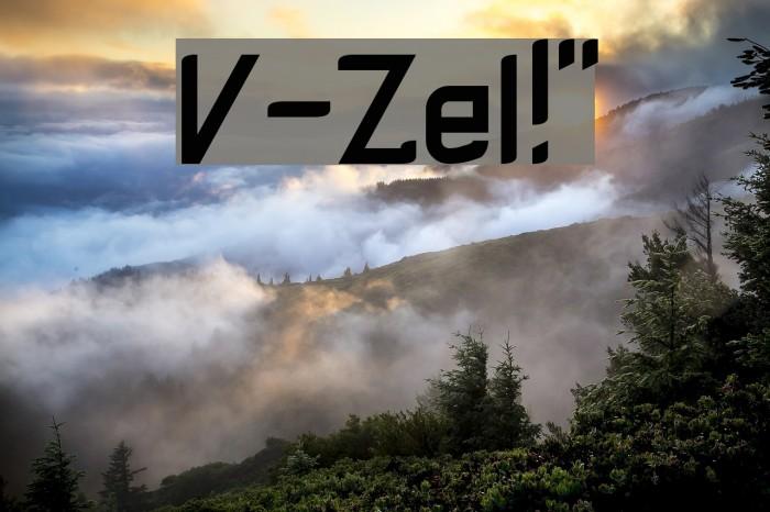 V-Zel!` Font examples