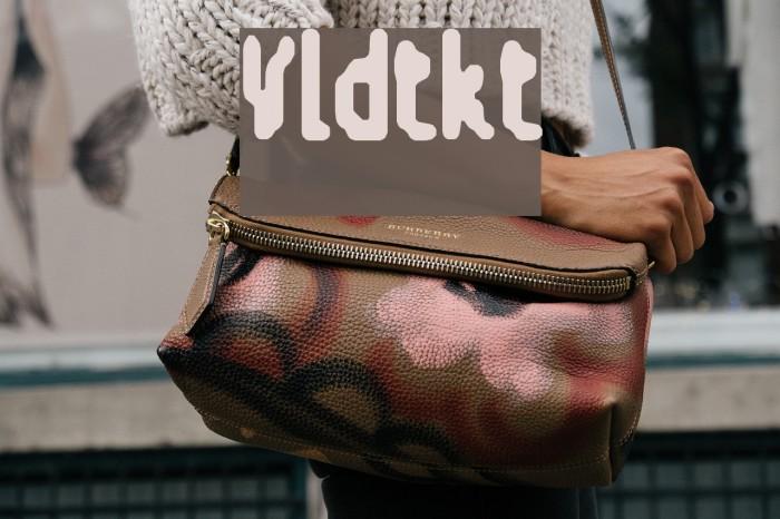 V-ldt-kt Font examples
