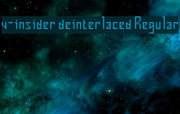 v-insider deinterlaced Regular Font examples