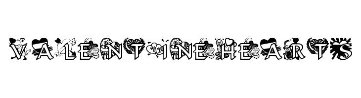 VALENTINEHEARTS  font caratteri gratis