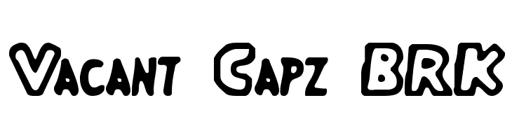 Vacant Capz BRK  Free Fonts Download