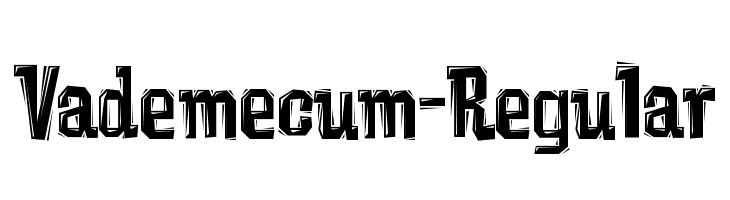 Vademecum-Regular  Free Fonts Download