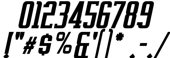 Vahika Bold Italic Font OTHER CHARS