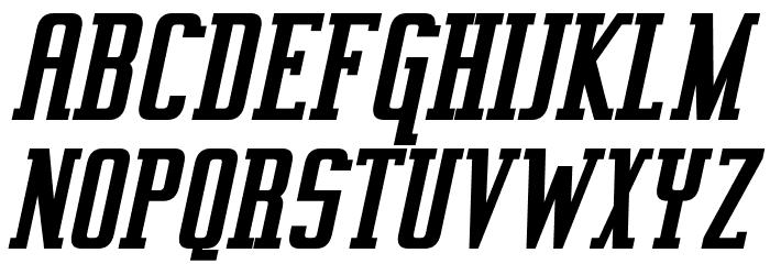 Vahika Bold Italic Font UPPERCASE