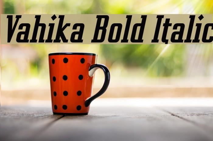 Vahika Bold Italic Font examples