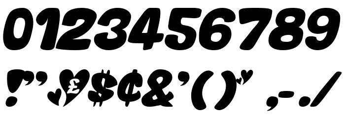 Valentine Oblique Font OTHER CHARS