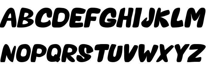 Valentine Oblique Font UPPERCASE