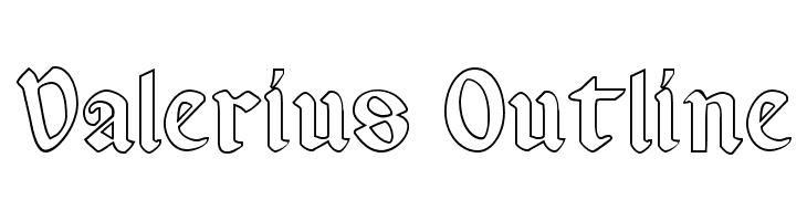 Valerius Outline  Free Fonts Download