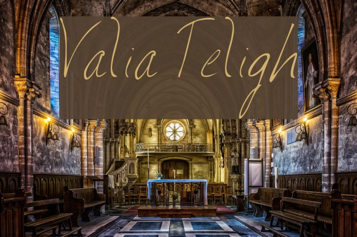 Valia Truelight Font examples