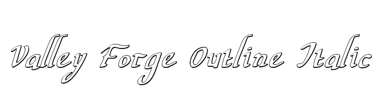 Valley Forge Outline Italic  Free Fonts Download