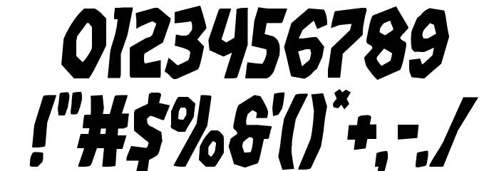 Vampire Bride Condensed Italic Шрифта ДРУГИЕ символов