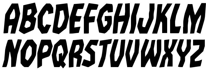 Vampire Bride Condensed Italic Шрифта ВЕРХНИЙ