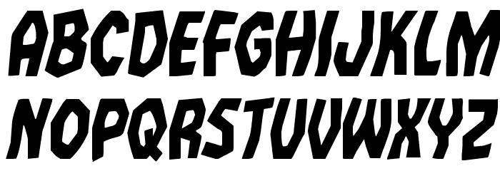 Vampire Bride Condensed Italic Шрифта строчной