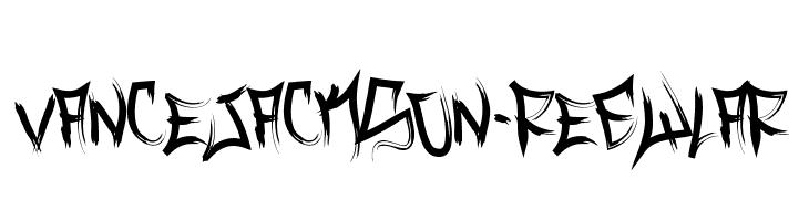 VanceJackson-Regular  Free Fonts Download