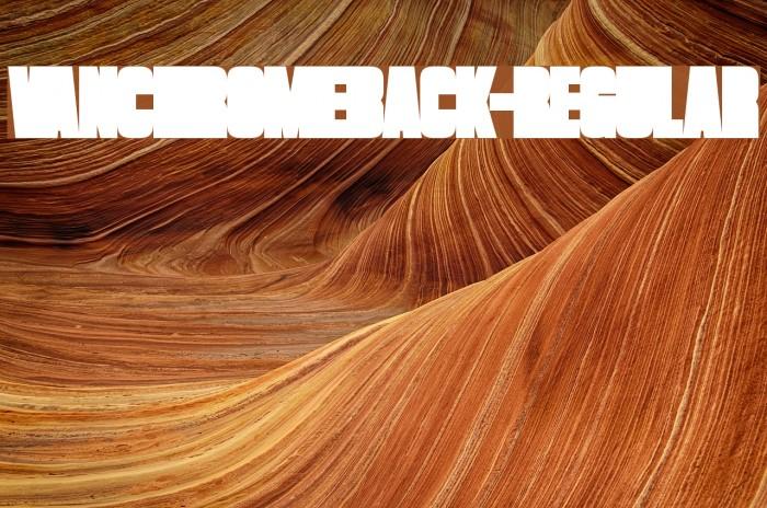 VanchromeBack-Regular Fonte examples
