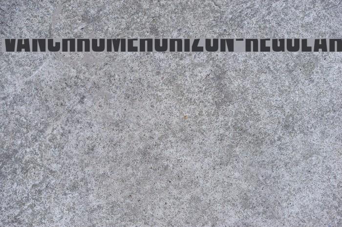 VanchromeHorizon-Regular Fonte examples