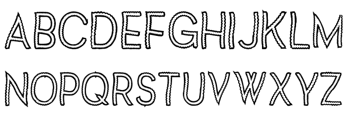 Vanilla Candy Font UPPERCASE