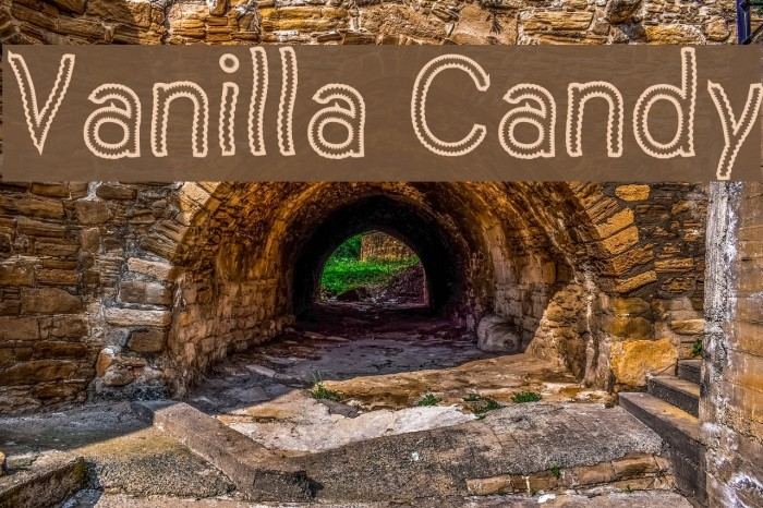 Vanilla Candy Font examples