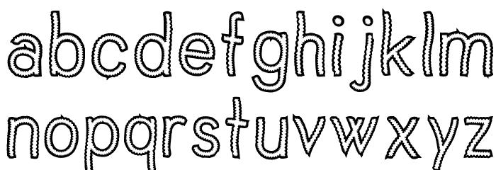 Vanilla Candy Font LOWERCASE